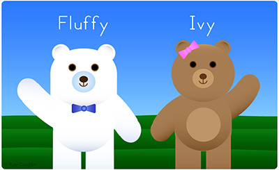 Fluffy and Ivy are Two Happy Bears